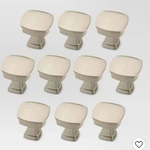 Threshold Satin Nickel Knobs x 10
